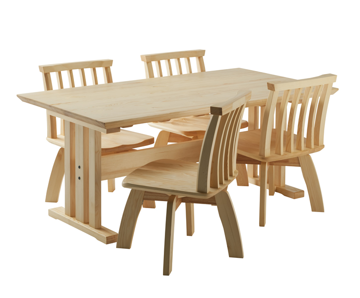 赤松ダイニングテーブル&チェア 組み合わせ